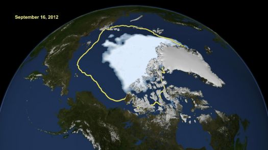 Receding Arctic ice cap