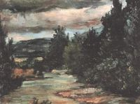 Paul Cézanne: River in the plain (1868)