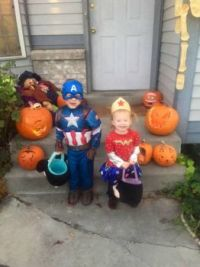 Halloween fun, Great grand children,