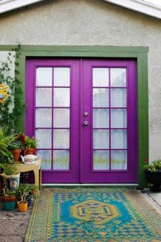 Bright purple door!
