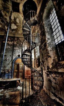 stairs Abandoned Watertower, Lincolnshire, England