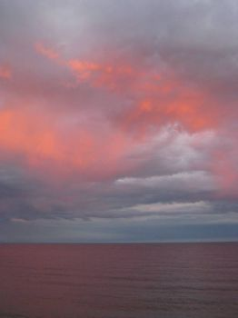 Fiery Lake Superior Sky