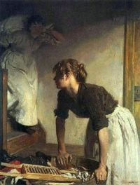 William Orpen  The Wash House