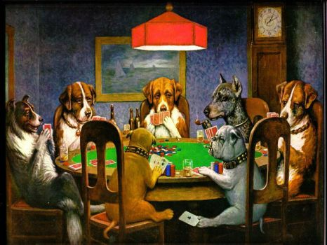 Dogs Playing Poker by C.M. Coolidge
