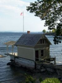 Small boat house  Lake Champlain,  Essex, NY