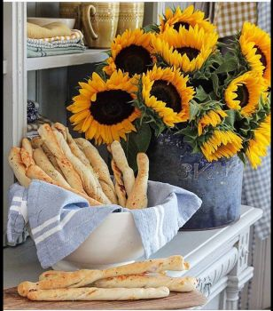 Sunflowers and Grissini