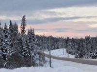Pretty sky over the Trans Canada Highway