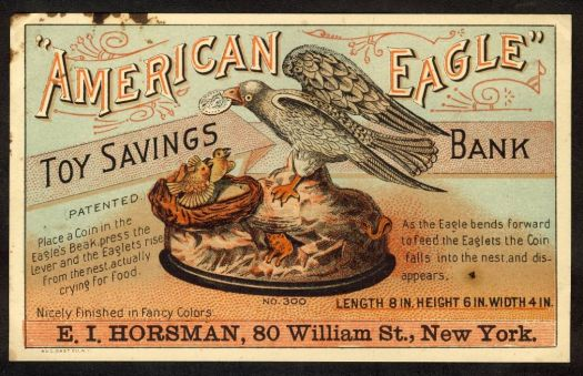 American Eagle - antique advertising trade card