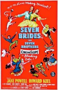7 BRIDES FOR 7 BROTHERS  1954 POSTER   JANE POWELL, HOWARD KEEL