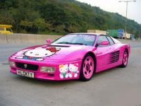 Hello Kitty Race Car