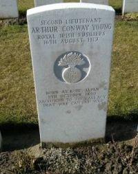 At Tyne Cot Cemetery, Belgium.