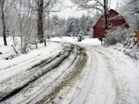 Snowy Road - Upstate New York