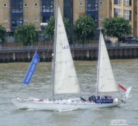 Gipsy Moth IV on the Thames