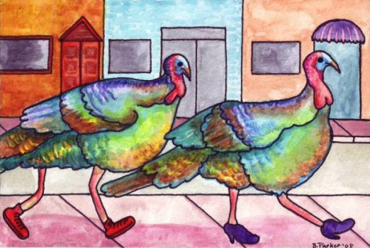Watercolor Turkey
