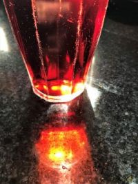 Red Beverage, Old Glass in the Sun