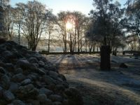 frosty sunshine at Clava Cairns