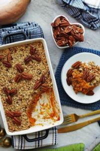 Sweet Potato Mash with Pecan Oat Topping