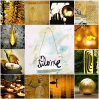 Silence is golden (Pomi's mosaic) by LaWendeltreppe on fickr