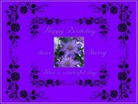 Happy Birthday dear Sherry (jojosmom417)
