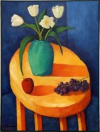 Still Life With Yellow Table by Paul Hannon