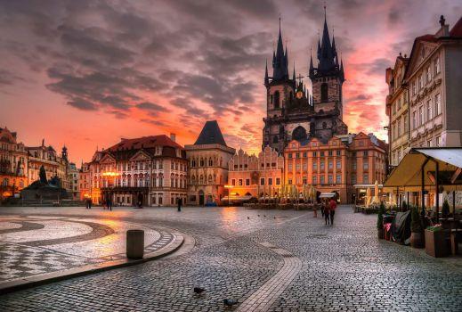 Prague sunset