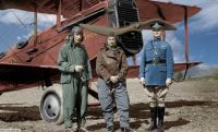 Early airmen and plane