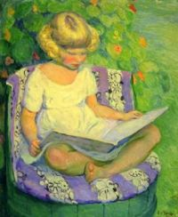 Child in a Barrel Chair -  George Lawrence Nelson