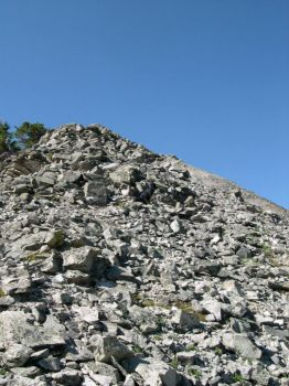 Ascending the talus