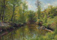 """Peder Mørk Mønsted, """"Rowing on a River in Summer"""", 1922"""