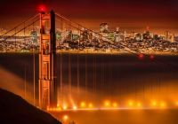 Magical Fog in San Francisco over the Golden Gate Bridge.