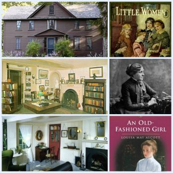 Theme~Homes: Louisa May Alcott's Home Orchard House: Largest (More sizes under mosaics)