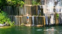 Theme: Summer - Swimming Fun in an Abandoned Marble Quarry in Vermont