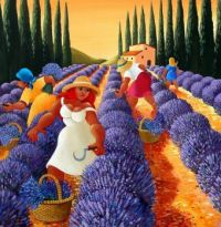 Lavendar Picking by Stef Callaghan