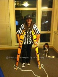 On Crutches Halloween Costume