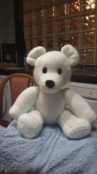 Knitted teddy.