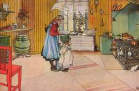 "Carl Larsson, ""The Kitchen"""