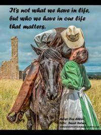 Cowboy kissing a lady