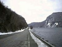 Vermont...Westmore.   Driving along Lake Willoughby