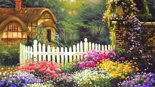 Flower English Cottages Love Spring Paintings Lovely Trees Colors Four Seasons Attractions Cottage Nature Garden Beautiful Flowe