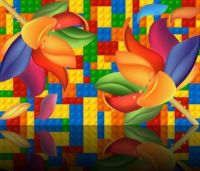 Colorful Lego & Flowers