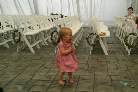 Evie last May at the end of a family wedding.