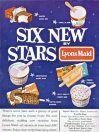 LYONS MAID AD. - A.B.C. FILM REVIEW JANUARY, 1963