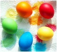 Easter Eggs - Drying the Dye