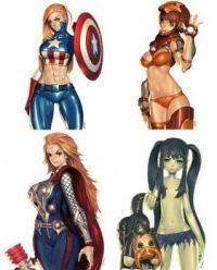 avengers anime female characters