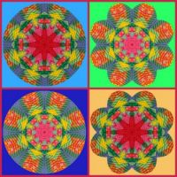 Quilted Kaleido Collage