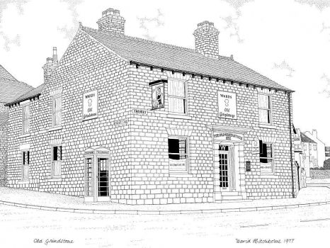A drawing I did of the Old Grindstone, Sheffield - 1977