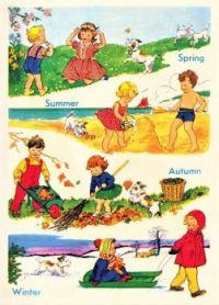 Themes Vintage illustrations/pictures - Book illustration Spring - Summer - Autumn - Winter