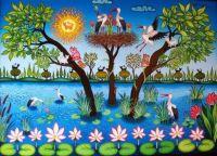 Artist Laszlo Koday Lilly Pond