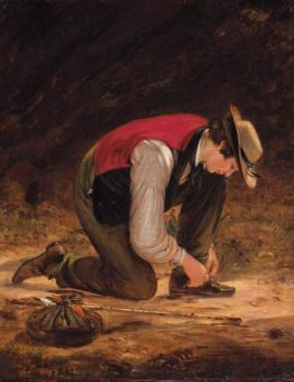 William Sidney Mount (American, 1807–1868), The Young Traveler (1854)