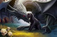 black panther and dragon
